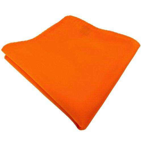 TigerTie Designer Einstecktuch in orange pastellorange hellorange einfarbig uni