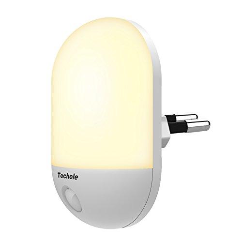 Luz Nocturna, Techole Lámpara Nocturna con Sensor Activo para Niños Bebes, 0.5W LED Luz Nocturna Enchufe Pared, Lámpara Infantil para Habitación Infantil, Viveros, Sala, Garaje, Baño, Pasillos
