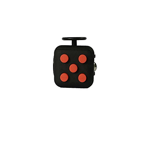 Preisvergleich Produktbild Fidget Cube ceavis Creative Würfel Büro Spielzeug der Angst Aufmerksamkeit Maschine zu lindern Stress Weihnachtsstrumpf Geschenk ideal für Familie Erwachsene Kinder (schwarz rot)