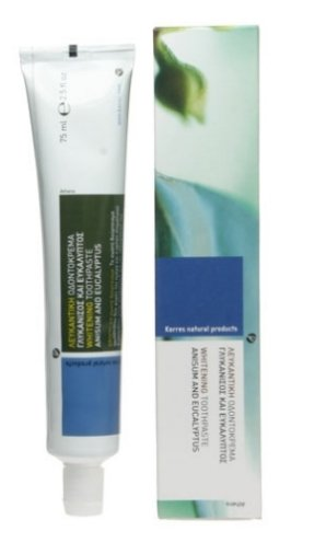 ANISUM AND EUCALYPTUS Whitening toothpaste /Homeopathy compatible 75ml