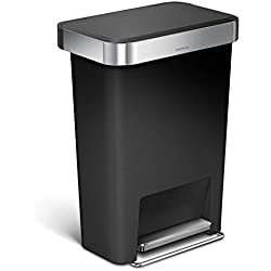 Simple Human CW1385CB 45L Liner Pocket Bin, Plastique, Noir, 32 x 47 x 63,5 cm