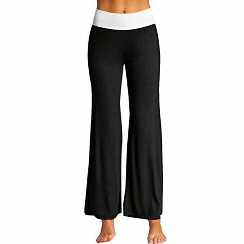 Jaminy Mode-Tasche Damen Gamaschen Yoga Hose Sport Drucken Beiläufig Hose Sport Leggings Damen Yoga Hose Fitness Tights Sporthose Jogging (XL, Schwarz)