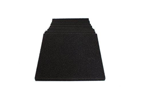 LTWHOME Schwarzer Schaum Filter Pad Passt für Danner PM 1000 und PM 2000(Packung mit 12) -