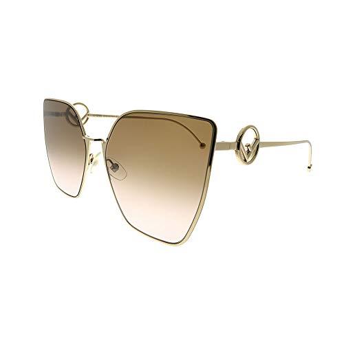 83ba8e296a5170 Fendi Sonnenbrillen F is FF 0323 S Gold Brown Shaded Damenbrillen