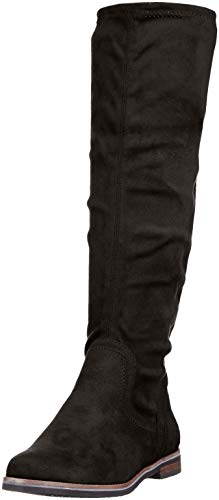 Schwarze Stretch-stiefel (CAPRICE Damen 9-9-25507-21 044 Stiefeletten, Schwarz (Black Stretch 44), 38 EU)