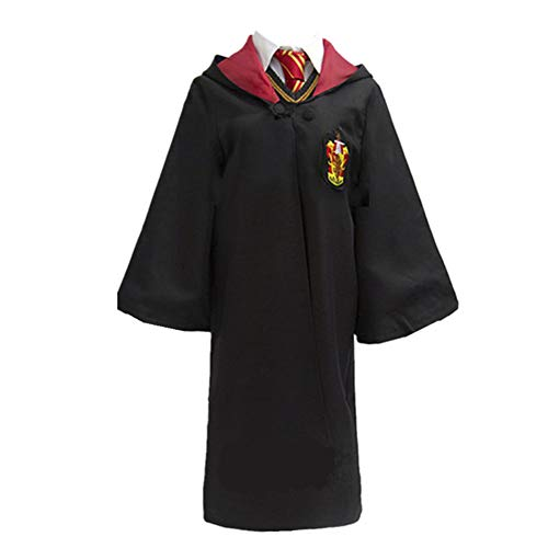LOVCRY Halloween Umhang Karneval Kostüm Cosplay Zauberei Cape mit Krawatte (Rot, M) (Gryffindor Halloween Kostüme)