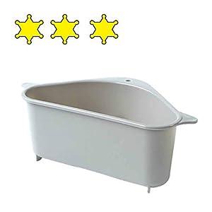 AMhomely® Waschbecken Filterablage Dreieck-Lagerregal - Seiher Sieb Set...