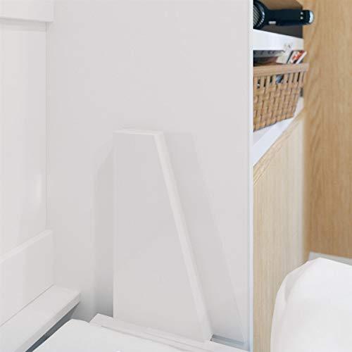 SMARTBett Standard 160×200 Vertikal Weiss Komfort Lattenrost Schrankbett | ausklappbares Wandbett, ideal geeignet als Wandklappbett fürs Gästezimmer, Büro, Wohnzimmer, Schlafzimmer - 4