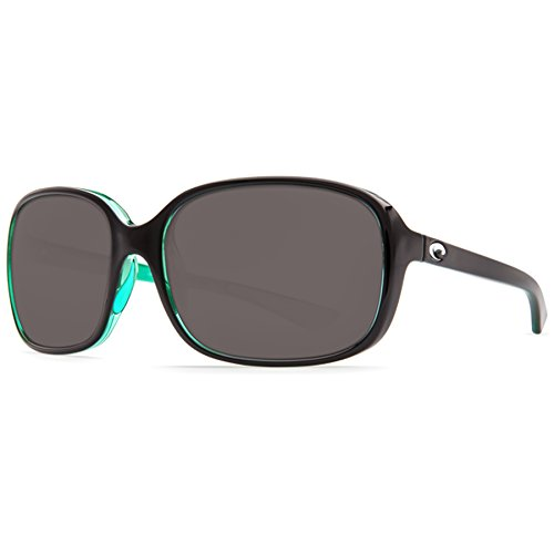Costa Shiny Riverton 580P Sonnenbrille, Schwarz/Kiwi/Grau, Damen, Riverton, Riverton Shiny Black Kiwi Gray 580P, Shiny Black Kiwi Gray, Einheitsgröße