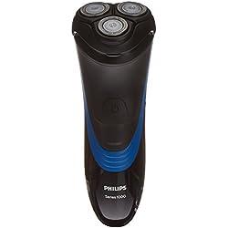 Philips S1510/04 - Afeitadora eléctrica, afeitar con cuchillas CloseCut, uso en seco, sin cable, negro y azul
