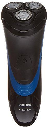 Philips S1510/04 - Afeitadora eléctrica, uso en seco, con cuchillas CloseCut, sin cable, negro y azul intenso oscuro