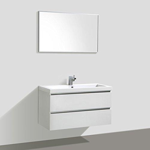Badmöbelset Waschtisch, Unterschrank und Spiegel - 4