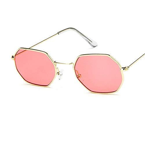 AOEIY Sonnenbrillen Polarisiert UV400 Schutz UV Strahlen Trend Sommer Herren Damen Mode Design Retro Vintage Gläser Ultra Leicht Autofahren Laufen Radfahren Angeln Golf Goldrahmen rot -