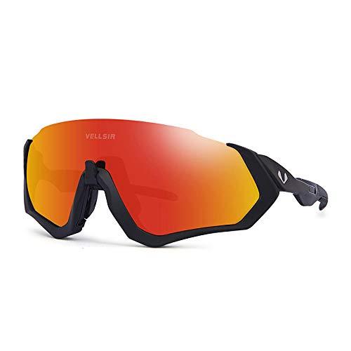 GTVV Sport-Sonnenbrille polarisierte Brille Mountainbike-Brille läuft Schwarz rot