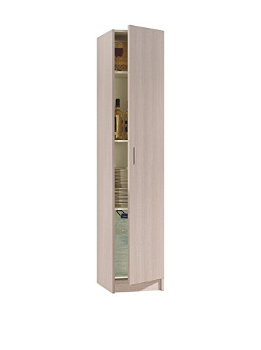 Armario multiusos 1 puerta color roble, beige