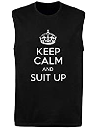 Canottiera Uomo Nera TR0086 Keep Calm And Suit UP How I Met Your Mother Barney  Stinson a5269b976f27