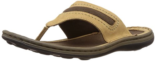 Woodland Men's Camel Leather Hawaii Thong Sandals and Floaters - 7 UK/India (41 EU)  available at amazon for Rs.1247