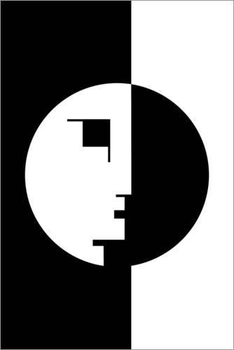 Posterlounge Leinwandbild 100 x 150 cm: Bauhaus! von The Usual Designers - fertiges Wandbild, Bild...