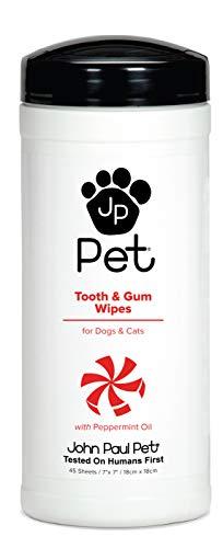 John Paul Pet JPPW05 Tooth and Gum Wipes Zahnpflege (Hunde Paul Für Mitchell)