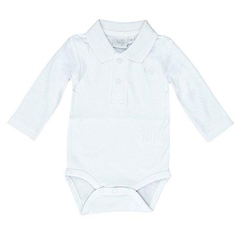FEETJE Baby-Body mit Polokragen 502.057 Gr. 74, weiß (550)