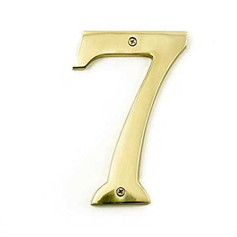 6 inch extra large polished brass numbers (7)