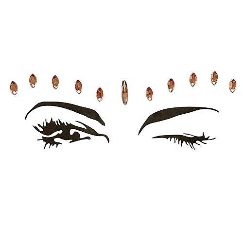 itzer Gesicht,Temporäre Tattoos Gesichts Aufkleber, Glitzersteine Gesicht,Gesicht Schmucksteine,Gesicht Aufkleber Glitzer für Festival Shows,Parties,Make-up ()