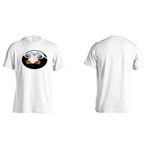 Smiley Con Specifiche Arte Del Fronte Divertente Della Novità Epoca Uomo T-shirt a286m White