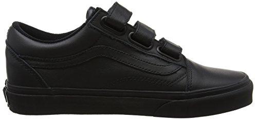 Vans Unisex-Erwachsene Old Skool V Laufschuhe Schwarz (Blackmono Leather)