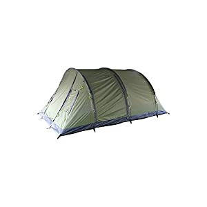 mountain warehouse coniston 5 man tent - waterproof with taped seams, groundsheet & fly sheet, divider for space & privacy - perfect for camping in summer