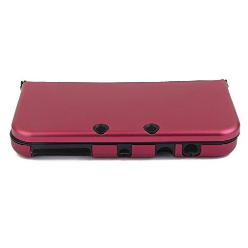 Aluminium Metall Haut Case Schutzhülle Für New Nintendo 3DS XL Rot