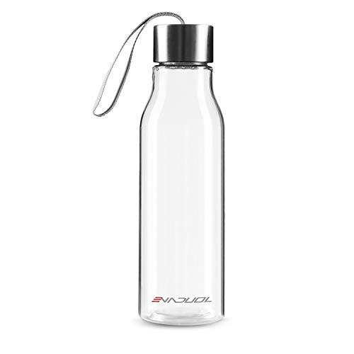 Evaduol Wasserflasche, BPA frei auslaufsicher tragbare Wärmflaschen für Outdoor, Sport, Fitness und Fitness, 600ml