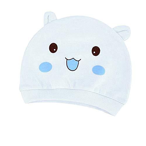 Bébé Beanie Cartoon Chapeau,Covermason Bonnet de Naissance Nouveau Né en Coton pour 0-3 Mois Bébé Fille Garçon (Bleu)