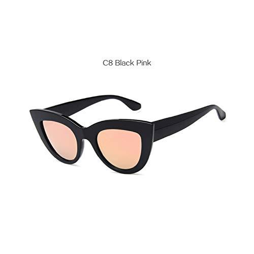Sport-Sonnenbrillen, Vintage Sonnenbrillen, Vintage Cat Eye Sunglasses Women Cateye Style Retro Sun Glasses Brand Designer UV400 Shades Fashion Eyewear C8