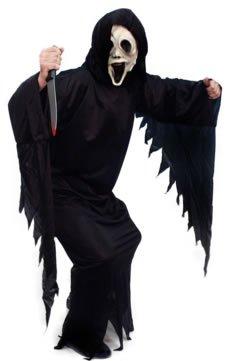 Screamers Kostüm - Smiffys Herren Screamer Kostüm, Gewand und Kapuze, Größe: M, 20504