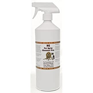 KG Pet Spray for Mange, Fleas, Mites and Skin Problems. Pesticide & Chemical Free. 1000 ml 7