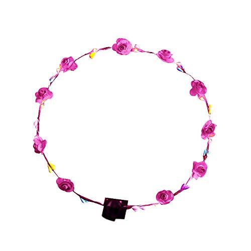 Homeofying Haarband mit Lichtern, handgefertigt, Boho Blumenkranz, Halo-Blumengirlande, Kopfschmuck, Festival, Hochzeit, Haarbänder