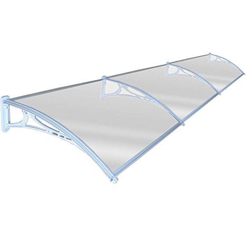 Preisvergleich Produktbild Tür Vordach Shelter Vorderseite Rückseite Veranda Outdoor Schatten Terrasse Abdeckung 80x 360cm weiß
