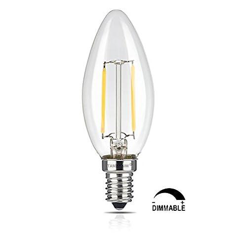 TAMAYKIM C35 2W Dimmable Ampoule Filament LED - 2700K Blanc