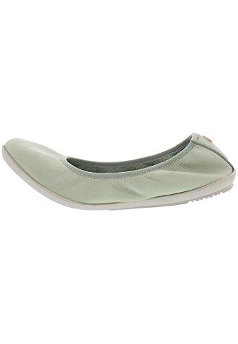 Softinos Damen Oki451sof Washed Geschlossene Ballerinas Grün (Pastel Green)