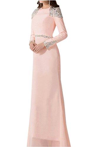 Sunvary Robe de Mere de Mariee Manches Longue Bouton Recouvert Chiffon Mandarine