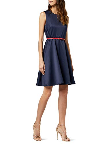 Intimuse Damen, ärmelloses Cocktail Kleid, Blau (Navy 018), -