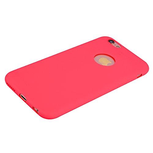 Apple iPhone 6 Plus/6S plus Hülle Case,Crystal Clear Handyhülle Cover Soft Premium-TPU Durchsichtige Schutzhülle Backcover Slimcase für Apple iPhone 6 Plus/6S plus Handycase,Handyschale,Schutzhülle-Gr Rot