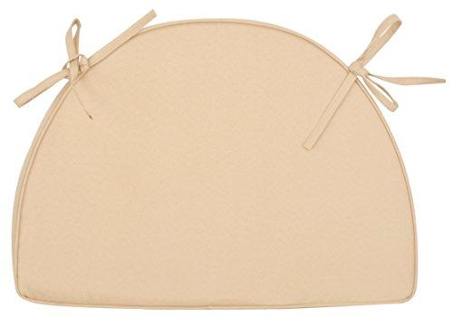 Esschert Design Kissen für MF013, 51 x 5,7 x 38 cm, mit Schlaufen zum Festbinden, in beige, ideal für 1 Platz der Gartenbank