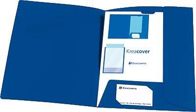 Exacompta Präsentationsmappe KREA COVER/43502E blau (Blaue Präsentationsmappen)