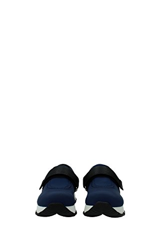 3S6179BALTICO Prada Sneakers Femme Tissu Bleu Bleu