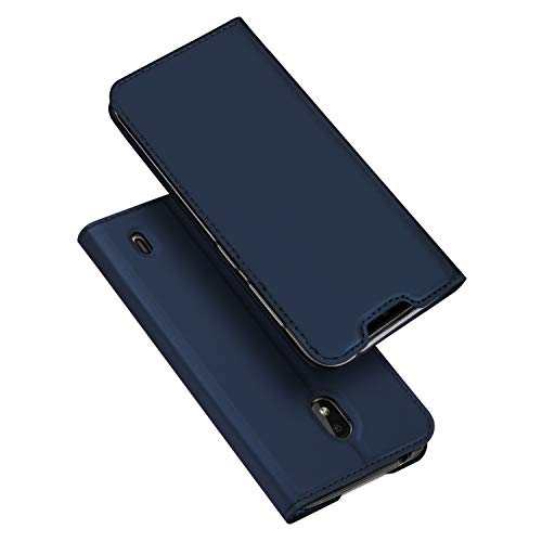 Dux ducis cover nokia 2.2, flip caso pelle pu con [funzione stand] [slot cart] [chiusura magnetica] bumper casein custodia per nokia 2.2 (blu)