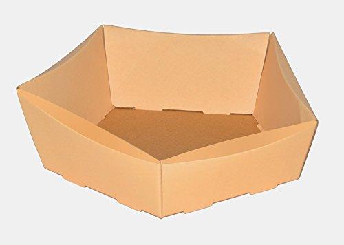 10 x Körbchen Petit , Weihnachtskorb, Osterkörbchen, Größe 210x200x65/50 mm, Osternest, Geschenkkorb, Wellpappkorb beige (orange)