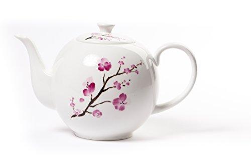 Cherry Blossom Design Grand Théière en porcelaine 1,2 L