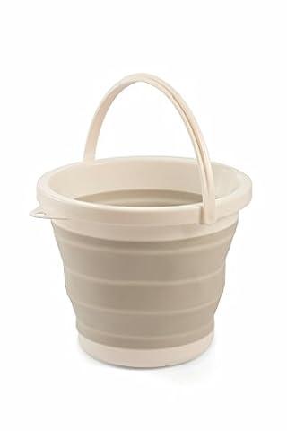Galileo Casa Flexy foldable Bucket, Silicone, Grey, 25x 25x