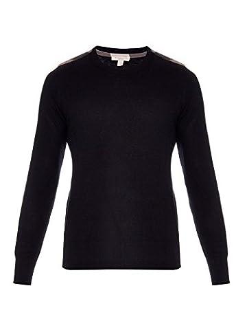 Burberry Brit Men's Black Jarvis Cashmere blend Sweater Sz L